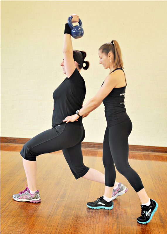 womens yoga pilates kettlebell